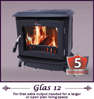 The Glas 12 kw pierce stoves