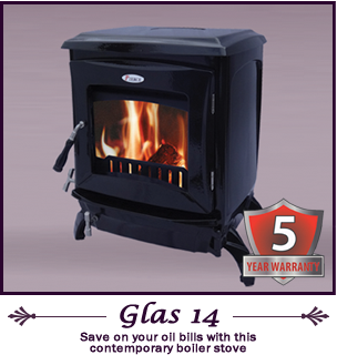 The Glas 14 kw pierce stoves