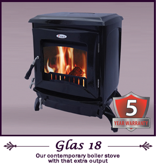 The Glas 18 kw pierce stoves