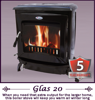 The Glas 20 kw pierce stoves