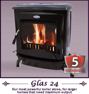The Glas 24 kw pierce stoves
