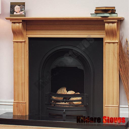 Dublin Corbel Oak Fireplace
